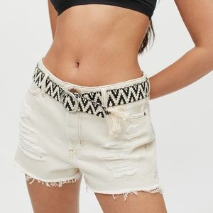 Urban Outfitters Woven Pattern Belt NWT